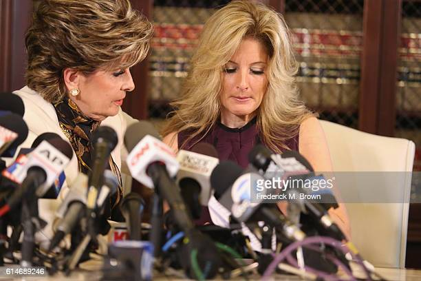 "Attorney Gloria Allred holds a press conference with Summer Zervos a former candidate on ""The Apprentice"" season five who is accusing Donald Trump of..."