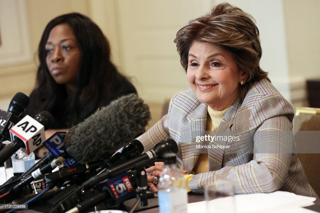 Attorney Gloria Allred , joined by accuser Rochelle