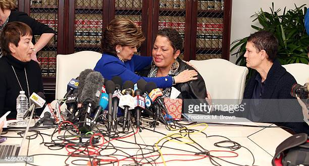 Attorney Gloria Allred speaks during a press conference with alleged victims of Bill Cosby Helen Hayes Chelan and Beth Ferrier on December 3 2014 in...