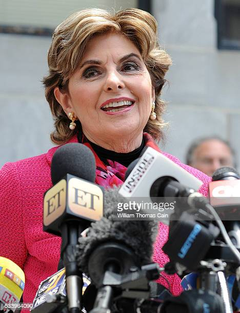 Attorney Gloria Allred speaks with the media after a Pennsylvania judge ruled that there was enough evidence to proceed with trial for Bill Cosby, on...