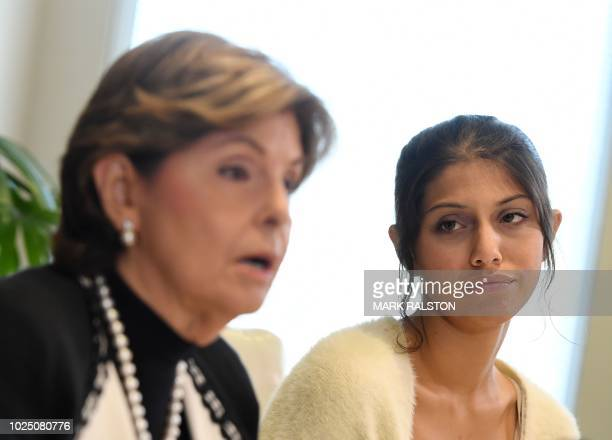 Attorney Gloria Allred with University of Southern California student Anika Narayanan announce that the medical license of USC gynecologist Dr George...