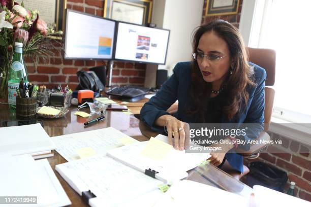 Attorney Harmeet Dhillon California's national committeewoman for the Republican National Committee working at her office in San Francisco Calif on...
