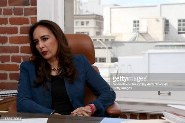 Attorney Harmeet Dhillon California's national committeewoman for the Republican National Committee is interviewed at her office in San Francisco...
