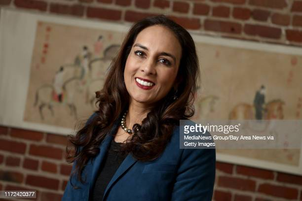 Attorney Harmeet Dhillon California's national committeewoman for the Republican National Committee poses for a photograph at her office in San...