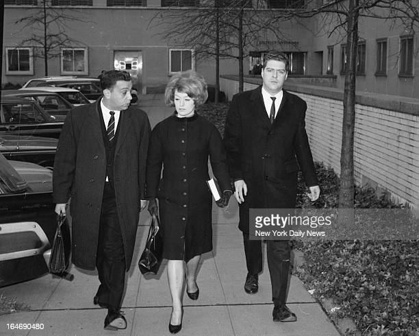 Attorney Harold Harrison Alice Crimmins and her husband Edmund leave Queens County Court after her trial was put off to November 29
