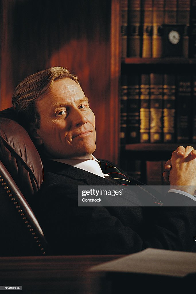Attorney in office : Stock Photo