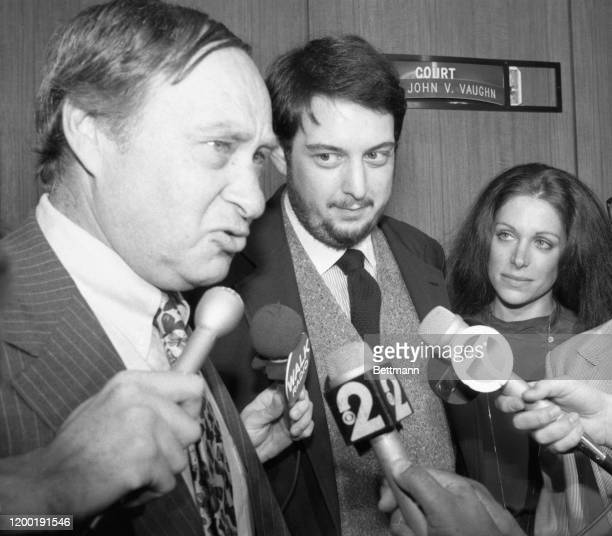 Attorney Jacob Siegfried answers questions after court appearance by Roy Radin theatrical producer and his fiancee Toni Fillet Radin accused by...