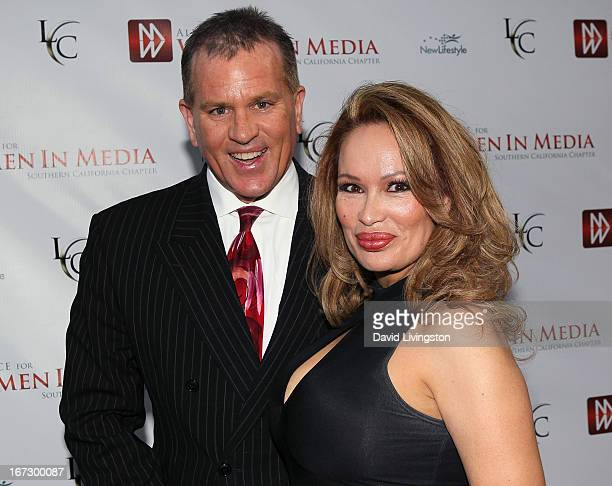 Attorney James V Bickford IV and author Dr Lisa Christiansen attend the 56th Annual Genii Awards at Skirball Cultural Center on April 23 2013 in Los...