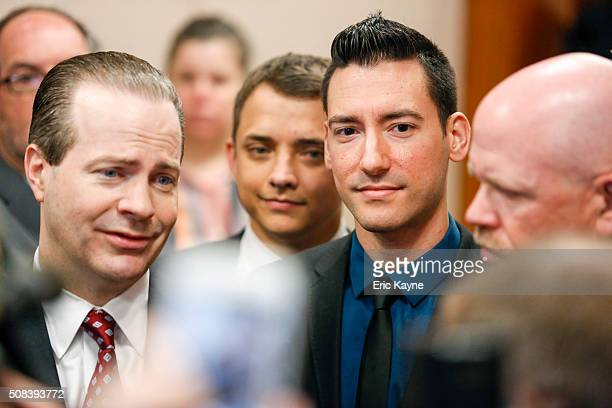 Attorney Jared Woodfill speaks to the media alongside client David Daleiden , a defendant in an indictment stemming from a Planned Parenthood video...