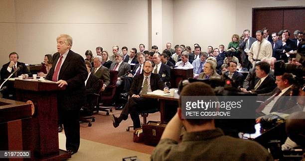 Attorney Joe Klock , representing Florida Secretary of State Katherine Harris, presents arguments during a hearing in Leon County Courthouse, 16...