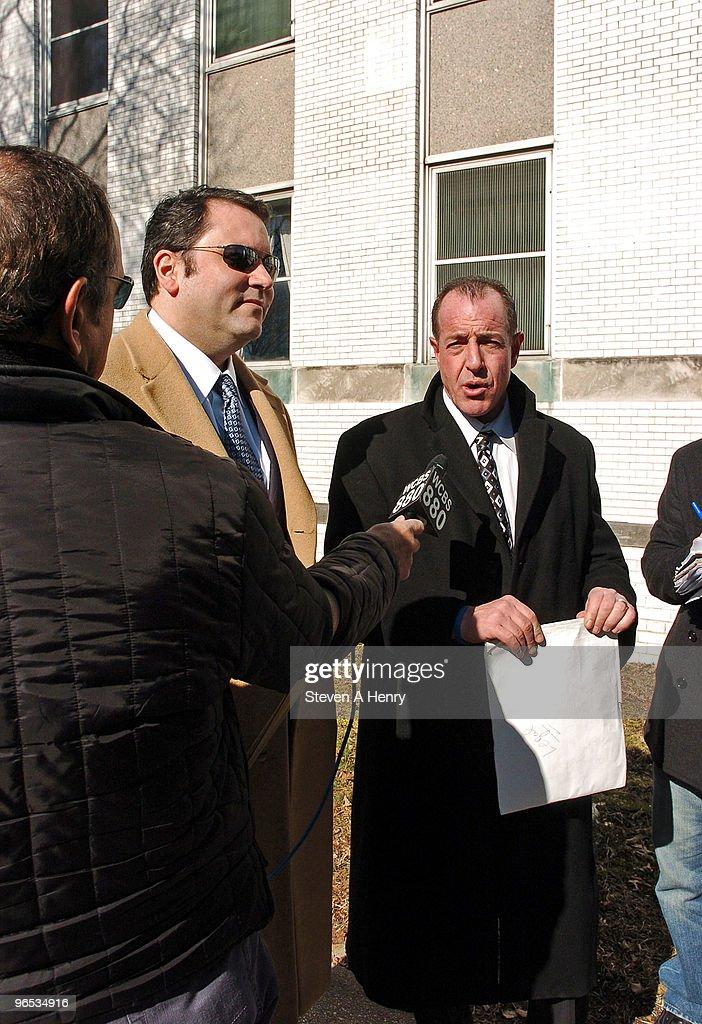Attorney John P Dimascio Jr And Michael Lohan Leave The