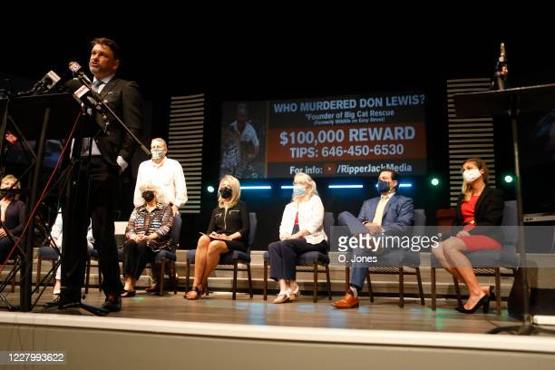 Attorney John Phillips speaks for the Lewis family during a news conference at Riverhills Church of God on August 10 2020 in Tampa Florida The...
