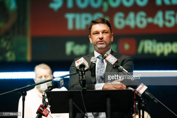 Attorney John Phillips speaks on the Lewis family during a news conference at Riverhills Church of God on August 10 2020 in Tampa Florida The...
