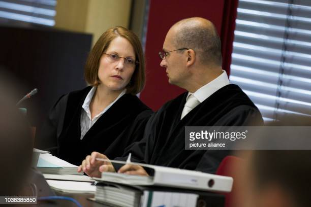 Attorney Julia Hartmann sits inside the State Court inDuesseldorfGermany 01 July 2013The red light scandal will be dealt with in court The...