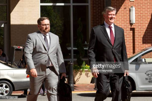 Attorney Kevin Downing arrives to Albert V Bryan United States Courthouse on October 10 2019 in Alexandria Virginia Associates of Rudy Giuliani Igor...