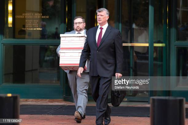 Attorney Kevin Downing departs the Albert V Bryan United States Courthouse on October 10 2019 in Alexandria Virginia Downing is currently...