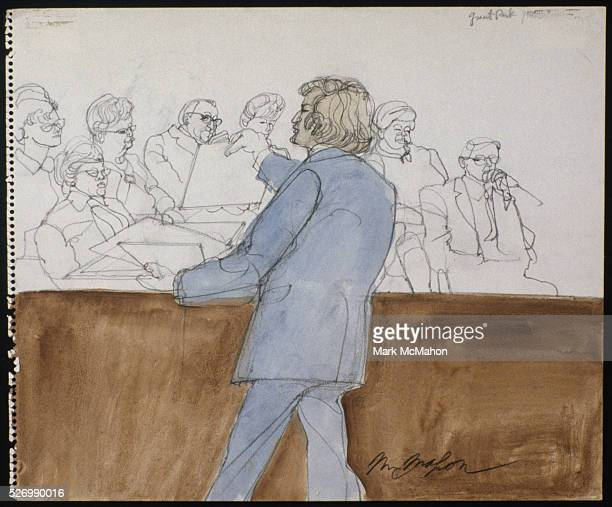 Attorney Leonard Weinglass Showing Photos to the Jury by Franklin McMahon