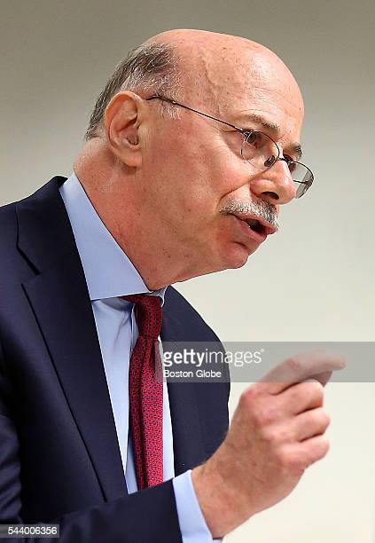 Attorney Les Fagen addresses Judge George Phelan He represents Philippe Dauman and George S Abrams Attorneys representing various factions of Sumner...