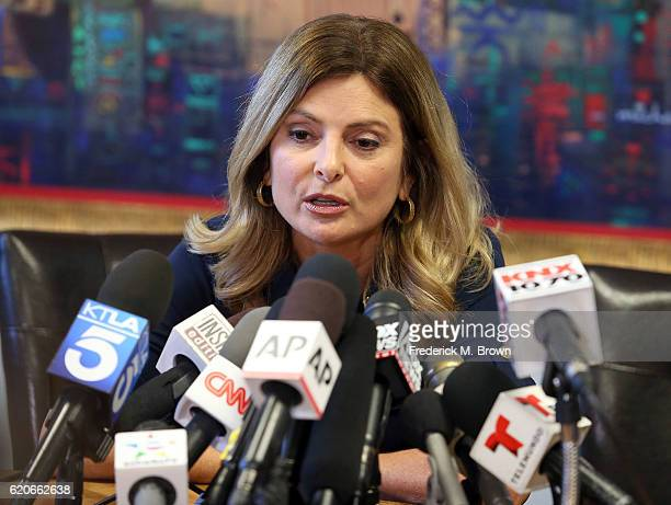 Attorney Lisa Bloom announces the cancellation of the press conference for Trump accuser Jane Doe on November 2 2016 in Woodland Hills California...