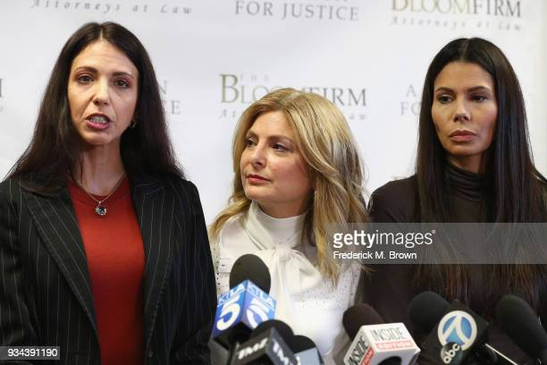 Attorney Lisa Bloom holds a press conference with her clients Faviola Dadis and Regina Simons who are accusing actor Steven Seagal of sexual assault...