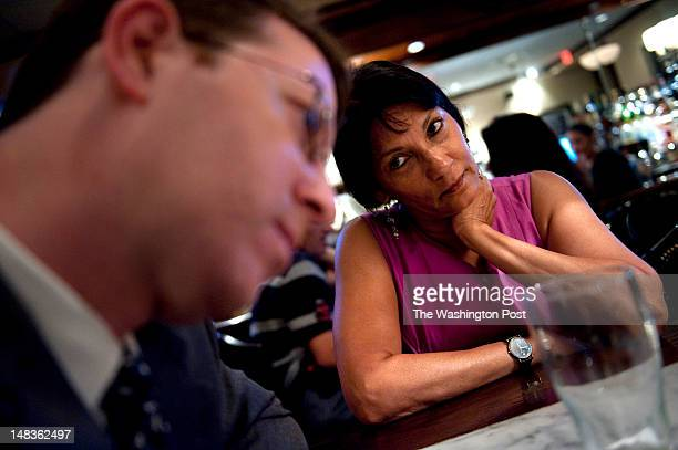 Attorney Mark S Zaid meets with his client Sabrina De Sousa at a local restaurant in Tysons Corner Virginia on Friday June 27 2012 De Sousa is...
