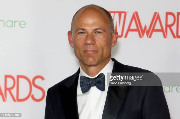 Attorney Michael Avenatti attends the 2019 Adult Video News Awards at The Joint inside the Hard Rock Hotel Casino on January 26 2019 in Las Vegas...