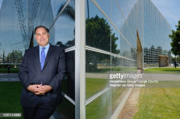 Attorney Michael Caspino outside the Christ Cathedral in Garden Grove on Wednesday. Casino served as general counsel to Roman Catholic Diocese of...