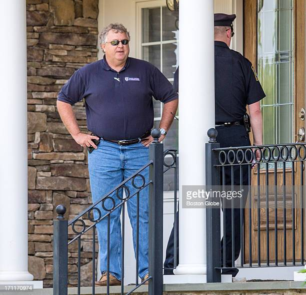 Attorney Michael Fee arrived at the home of New England Patriots player Aaron Hernandez in North Attleborough Hernandez has been linked to the...