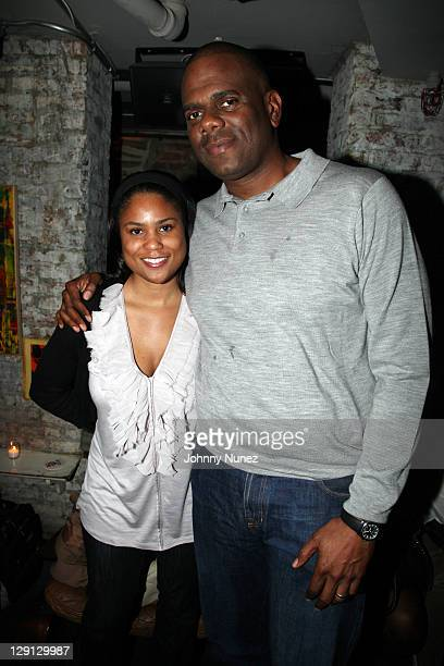 Attorney Motisola Zulu and music executive Big Jon Platt attend the ASCAP Mixer for the EMI Urban Writers Conference at Bar 675 on April 11, 2011 in...