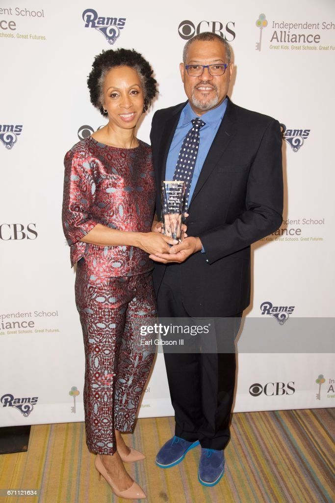 Attorney Nina L. Shaw and actor Lawrence Fishburne attend the Independent School Alliance Impact Awards when Nina L. Shaw was hononored at the Beverly Wilshire Four Seasons Hotel on April 20, 2017 in Beverly Hills, California.