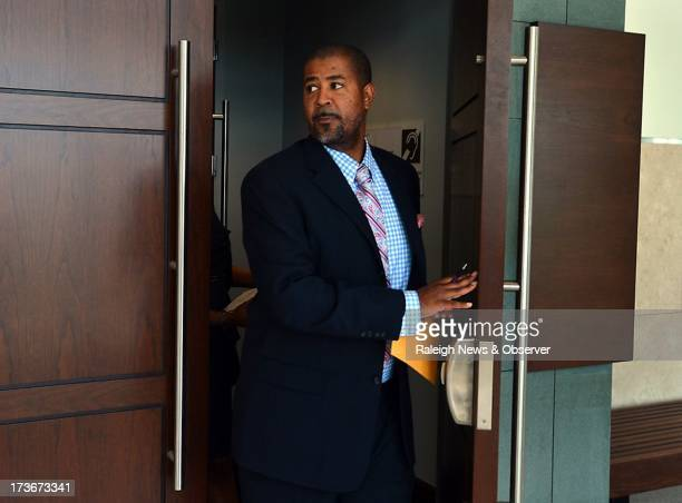 Attorney Randy Griffin leaves a courtroom Tuesday July 16 in Durham North Carolina after attending a hearing in the Haydn Fats Thomas case Thomas a...