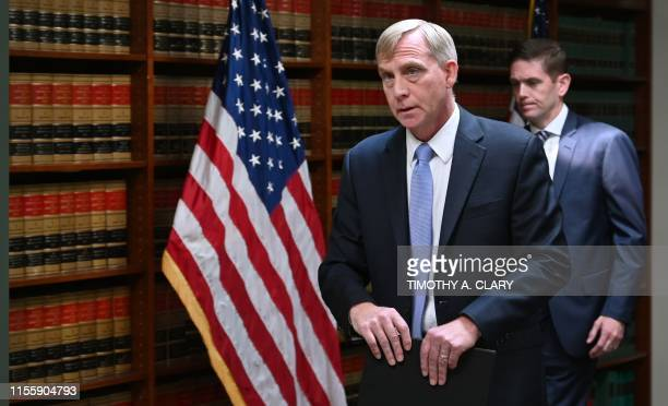 US Attorney Richard Donoghue and Michael Driscoll Special Agent in Charge of the FBI New York Criminal Division speak to the the press at Eastern...
