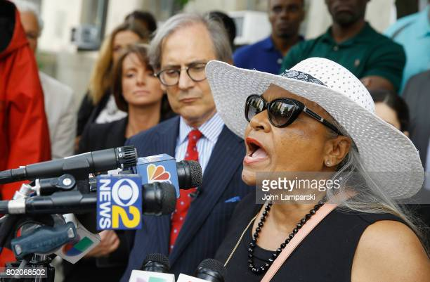 Attorney Robert C Gottlieb and Maria Velazquez the mother of Jon Adrian Velazquez speak during a press conference for retrial motion filed for Jon...