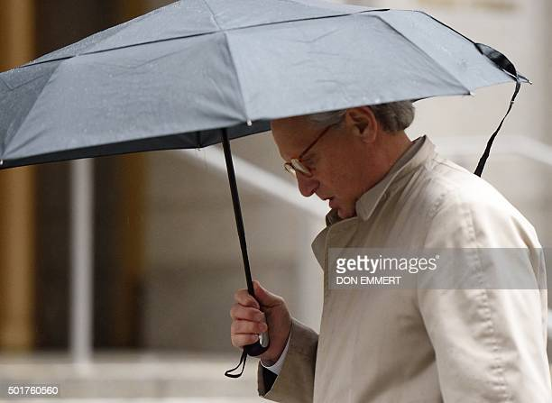 Attorney Robert Cohen arrives at the US Federal Courthouse in Manhattan December 17 2015 in New York Cohen was at the court to discuss the ongoing...