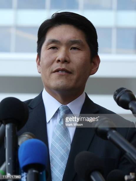 S Attorney Robert Hur speaks to the media about Christopher Paul Hasson after a hearing at the United States District Court Greenbelt Division is...