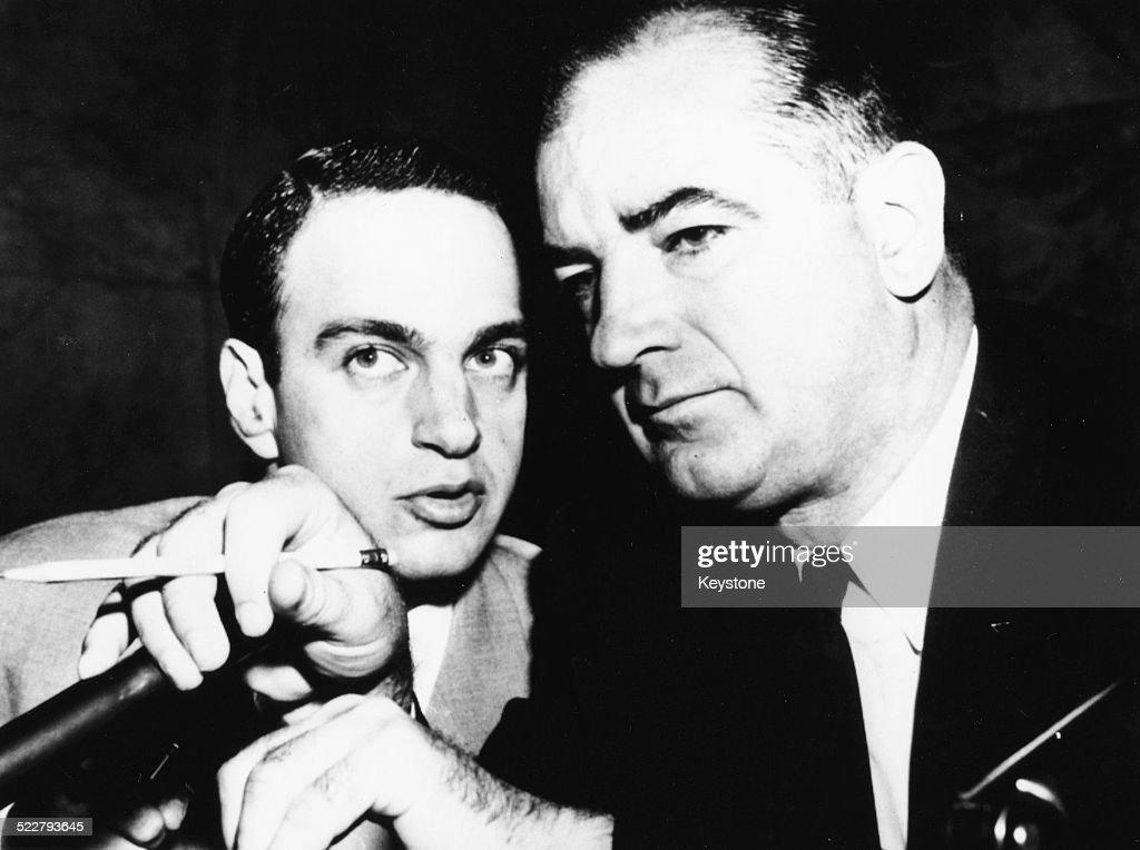 Roy Cohn And Joseph McCarthy : News Photo