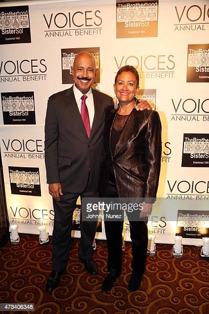 Attorney Ted Wells and former Secretary of State of New Jersey Nina Wells attend the 2015 Brotherhood/Sister Sol's Voices Benefit at Gotham Hall on...