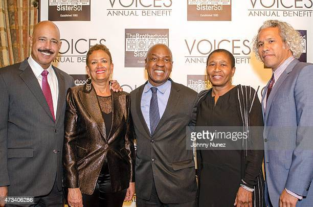 Attorney Ted Wells former Secretary of State of New Jersey Nina Wells Harvard Law Professor Charles Ogletree honoree Michele A Roberts and The...
