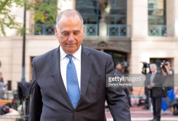 Attorney Thomas Zehnle departs the Albert V Bryan United States Courthouse on October 10 2019 in Alexandria Virginia Associates of Rudy Giuliani Igor...