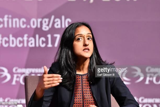 Attorney Vanita Gupta serves as a panelist at the National Town Hall at Walter E. Washington Convention Center on September 21, 2017 in Washington,...