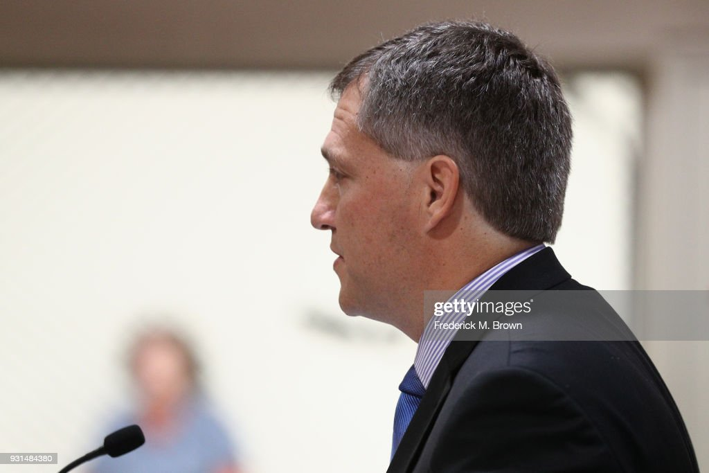 Attorney William Haney, representing Heather Locklear, attends a hearing stemming from domestic violence accusations against Locklear at the Superior Court of Ventura County on March 13, 2018 in Ventura, California. Locklear faced one count of domestic battery for allegedly attacking her boyfriend, those charges have been dropped but Locklear still faces multiple counts of battery for allegedly attacking Ventura County Sheriff's deputies during the domestic dispute.