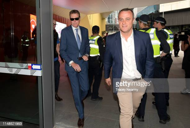 AttorneyGeneral Christian Porter arrives at the Melbourne Convention and Exhibition Centre during the Liberal Campaign Launch on May 12 2019 in...