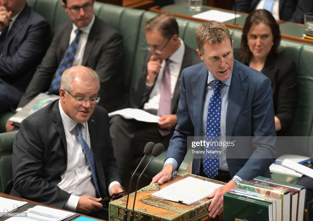 Attorney-General Christian Porter speaks during question