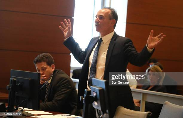 Attorneys Andrew Zelman, left, and Leonard Samuels, representing the Florida Democratic party, make their argument during an emergency hearing...