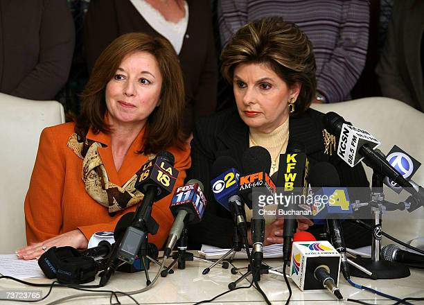 Attorneys Dolores Leal and Gloria Allred announces lawsuit against sexual harassment of women female correction officers at the California Department...