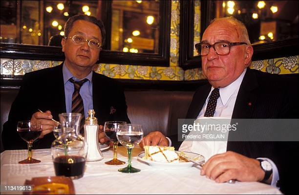 Attorneys Jacques verges and JeanBaptiste Biaggi in the Brasserie Lipp On February 27th 1991 In Paris France