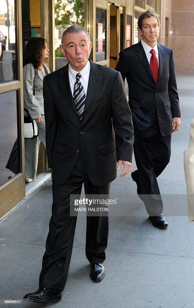 Attorneys John Branca (L) and Howard Weitzman (R) leave the Superior Court in Los Angeles on July 6, 2009 after they were appointed co-administrators of Michael Jackson's estate. A judge removed Michael Jackson's mother as administrator of his estate, a day before a gala memorial service to which more than one million people sought tickets. Lawyers for Jackson's 79-year-old mother Katherine clashed with two of the King of Pop's business associates for control of his estate which includes the Neverland Ranch and rights to Beatles songs. But in line with Jackson's will, which emerged last week, Judge Mitchell Beckloff handed the estate over to Branca and music executive John McClain. AFP PHOTO/Mark RALSTON