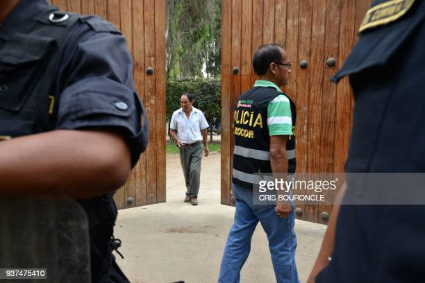 Attorney's office and police authorities raid a house owned by former Peruvian President Pedro Pablo Kuczynski as part of a money laundering probe in...