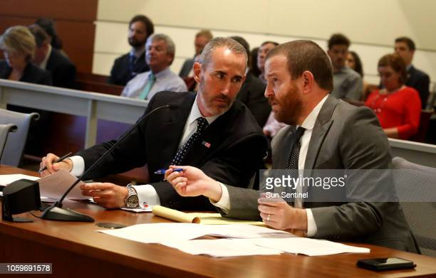 Attorneys William McCormick, left and Jason Zimmerman with Gray-Robinson Law, who are representing the National Republican Senatorial Committee, Rick...