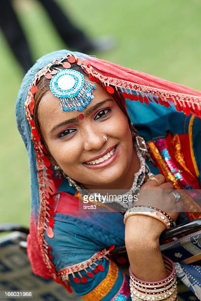 Attractive 18 year old Indian girl in traditional costume